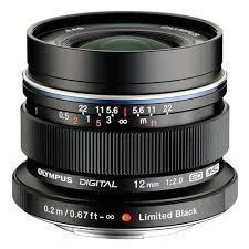 Olympus M.ZUIKO DIGITAL ED 12mm f2.0 Black