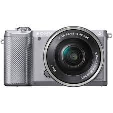Sony Alpha 5000 a5000 ILCE-5000L Kit SEL-P 16-50mm Silver (Menù Inglese)