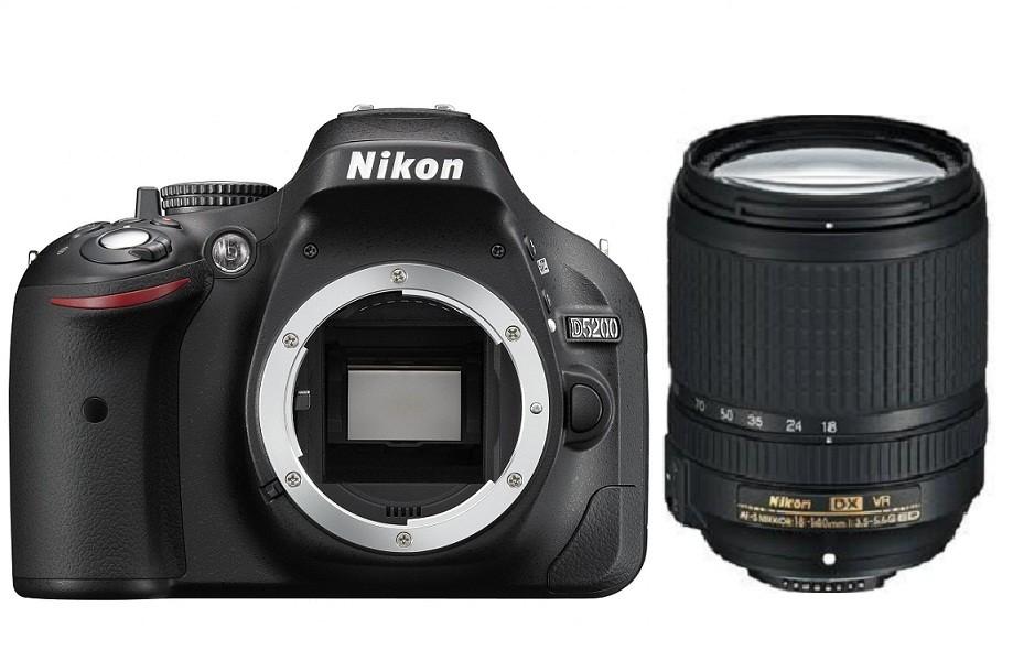 Fotocamera Digitale Reflex Nikon D5200 Kit + 18-140mm Nikon VR