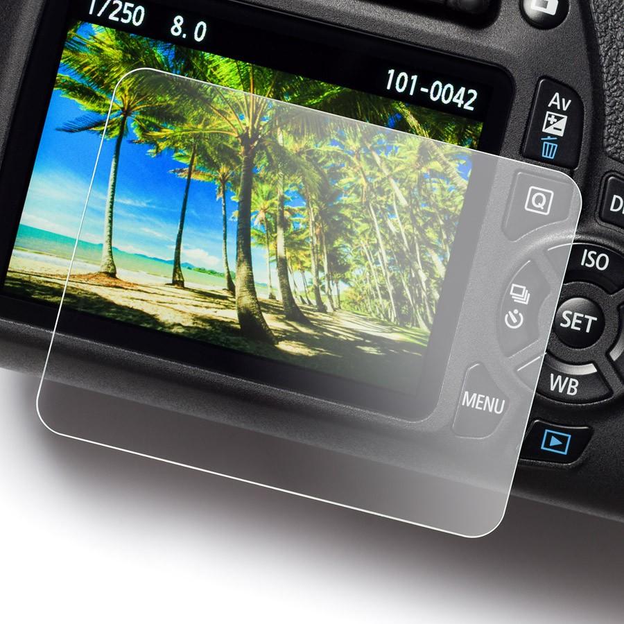 Proteggi schermo easyCover Screen Protector Tempered Glass per Canon 70D 77D 80D