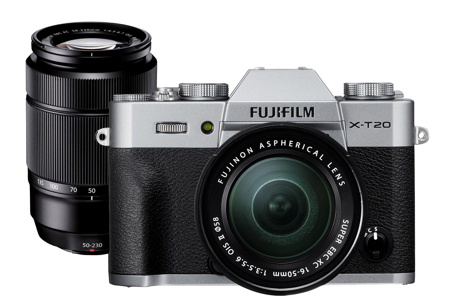 Fotocamera Mirrorless Fujifilm Finepix X-T20 Kit 16-50mm + 50-230mm Silver Garanzia Fujifilm Italia