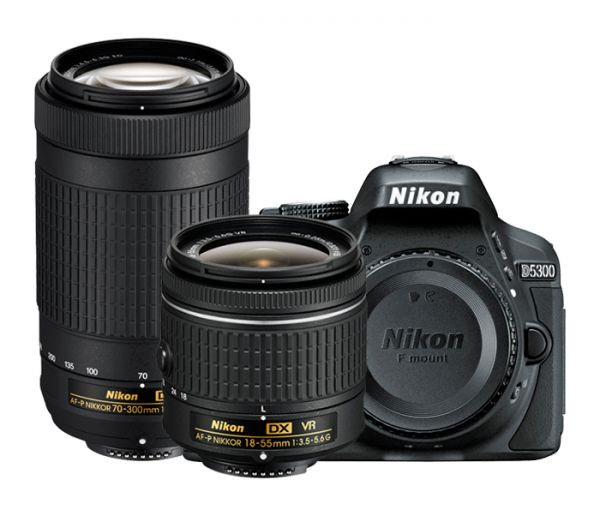 Fotocamera Digitale Reflex Nikon D5300 Kit 18-55mm AF-P + 70-300mm AF-P VR Black