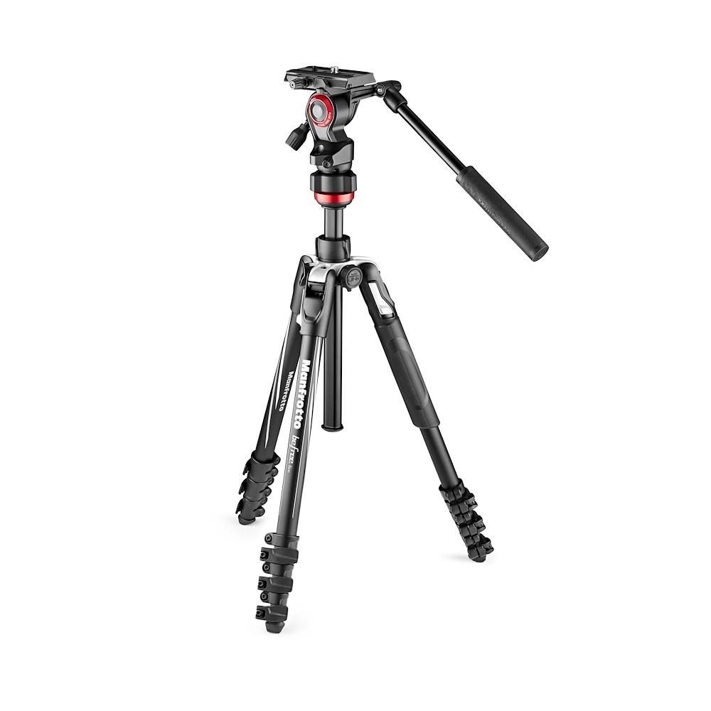 Manfrotto Befree Gt Alluminio Kit Twist Nero Cavalletto per Fotocamera Treppiede