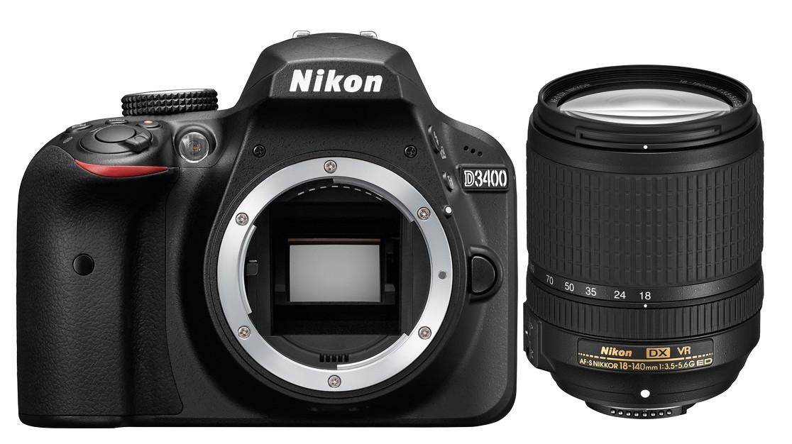 Fotocamera Digitale Reflex Nikon D3400 Kit + 18-140mm Nikon VR