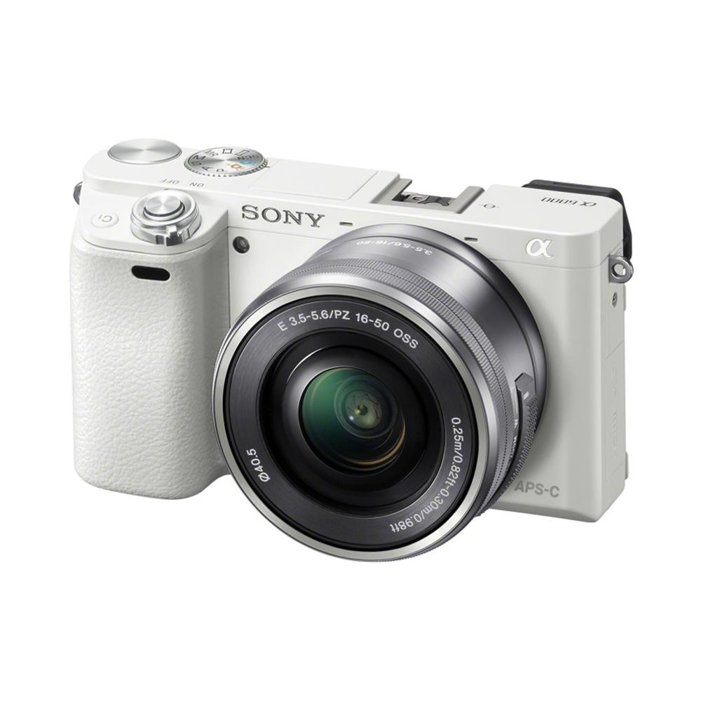 Fotocamera Mirrorless Sony A6000 ILCE-6000L Kit SEL-P 16-50mm White
