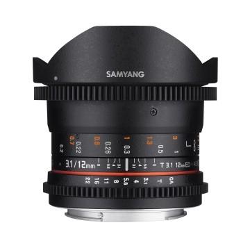 Samyang 12mm T3.1 VDSLR ED AS NCS Fisheye (Sony E)Garanzia FOWA 5 anni
