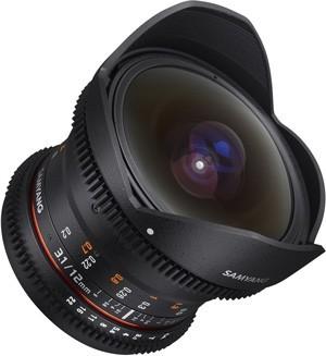 Samyang 12mm T3.1 VDSLR ED AS NCS Fisheye (Nikon)Garanzia FOWA 5 anni