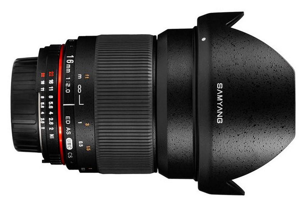 Samyang 16mm f/2.0 ED AS UMC CS (M4/3) Garanzia FOWA 5 anni