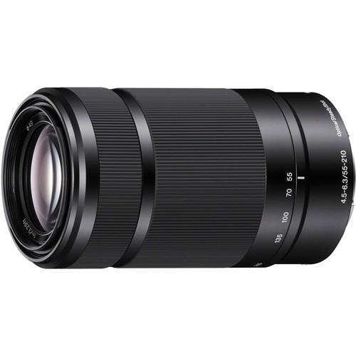 Obiettivo Sony SEL 55-210mm f/4.5-6.3 OSS (SEL55210) E-Mount Black