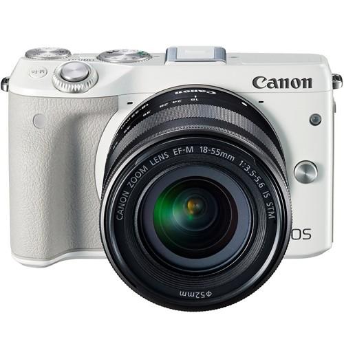 Fotocamera Canon EOS M3 + EF-M 18-55mm Bianca