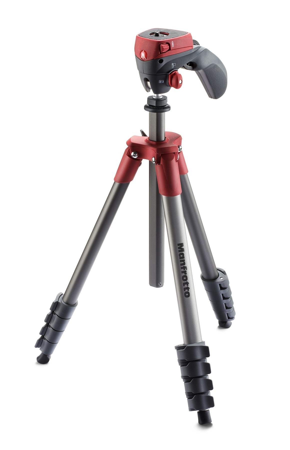 Manfrotto Treppiede Compact Action Testa Joystick Rosso