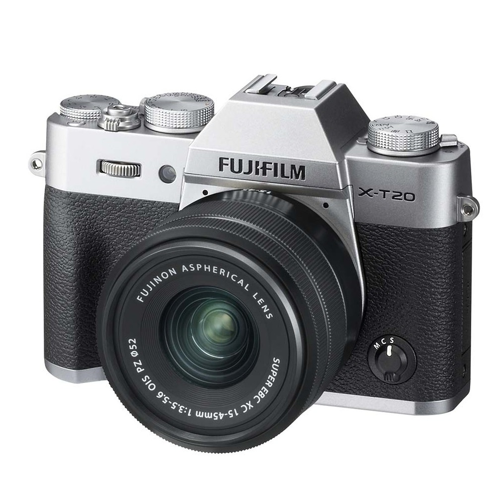 Fotocamera Mirrorless Fujifilm Finepix X-T20 Kit 15-45mm Silver Garanzia Ufficiale Fujifilm ®