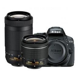 Fotocamera Digitale Reflex Nikon D5300 Kit 18-55mm AF-P + 70-300mm AF-P VR Black