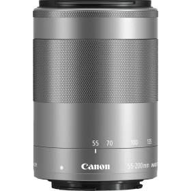 Obiettivo Canon EF-M 55-200mm f/4.5-6.3 IS STM Silver