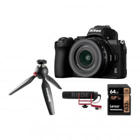 Fotocamera Nikon Z50 + kit vlog 16-50mm