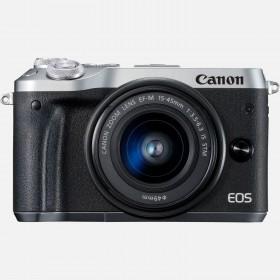 Fotocamera Mirrorless Canon EOS M6 Kit EF-M 15-45mm Silver