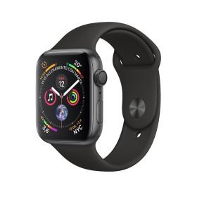 Apple Watch Series 4 GPS Alluminio grigio siderale cinturino Sport nero 44mm