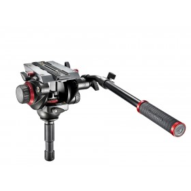Manfrotto 504HD Testa video con semisfera 75mm, 1 leva telescopica