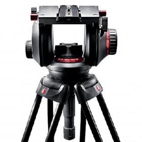 Testa video con semisfera da 100mm, 1 leva telescopica