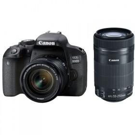 Fotocamera Digitale Reflex Canon EOS 800D Kit + 18-55mm IS STM + 55-250mm IS STM