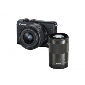 Fotocamera Mirrorless Canon EOS M200 Nero + 15-45mm IS STM + 55-200mm IS STM Black