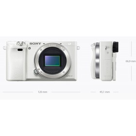 Fotocamera Mirrorless Sony A6000 ILCE-6000Y Kit SEL-P 16-50mm + SEL 55-210mm White