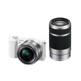 Sony Alpha 5100 a5100 ILCE-5100Y Kit SEL-P 16-50mm + SEL 55-210mm White