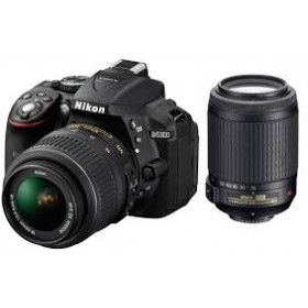 Fotocamera Digitale Reflex Nikon D5300 Kit 18-55mm AF-P + 55-200mm VR II Black
