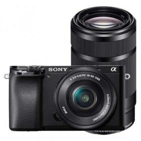 Fotocamera mirrorless Sony Alpha A6100 + 16-50mm + 55-210mm Garanzia Italia
