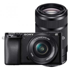 Fotocamera mirrorless Sony Alpha A6100 + 16-50mm + 55-210mm
