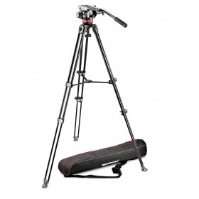 Manfrotto Kit 502, treppiede telescopico doppio tubo MVT502AM