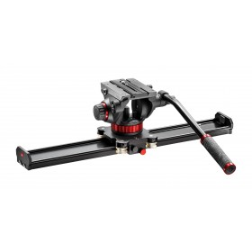 Manfrotto Kit slider 60cm e testa fluida 502