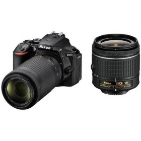 Fotocamera Digitale Reflex Nikon D5600 Kit AF-P 18-55 VR + AF-P 70-300mm VR+tahoe 150 blu