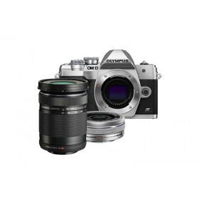 Fotocamera Mirrorless Olympus OM-D E-M10 Mark IV + 14-42mm EZ + 40-150mm Silver