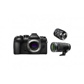 Fotocamera Mirrorless Olympus OM D E-M1 Mark II Kit 12-40mm 40-150mm 2.8 PRO Black