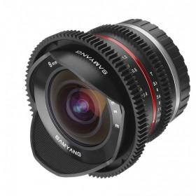 Samyang 8mm T3.1 V-DSLR UMC Fish-eye II (Fuji X)Garanzia FOWA 5 anni