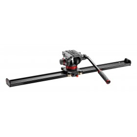 Manfrotto Kit slider 100cm e testa fluida 502