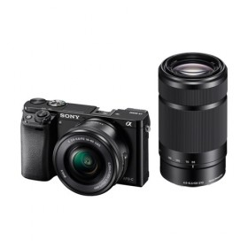 Fotocamera Mirrorless Sony A6000 ILCE-6000Y Kit SEL-P 16-50mm + SEL 55-210mm Black