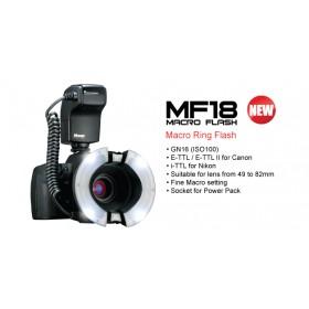 Flash Anulare Nissin MF18 Macro Flash (Nikon) Garanzia Rinowa