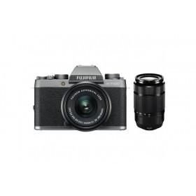 Fotocamera Mirrorless Fujifilm Finepix X-T100 Silver Kit 15-45mm + XC 50-230mm Garanzia Fujifilm Italia