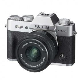 Fotocamera Mirrorless Fujifilm Finepix X-T20 Kit 15-45mm Silver+NX Grigia