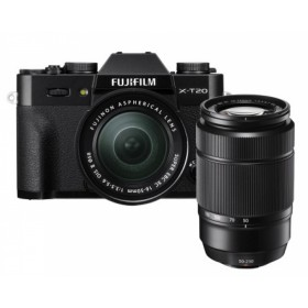 Fotocamera Mirrorless Fujifilm Finepix X-T20 Kit 16-50mm + 50-230mm Black Garanzia Fujifilm Italia