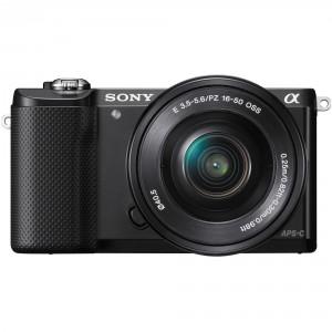 Sony Alpha 5000 a5000 ILCE-5000L Kit SEL-P 16-50mm Black (Menù Inglese)