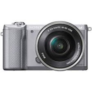 Sony Alpha 5000 a5000 ILCE-5000L Kit SEL-P 16-50mm Silver (Menù Inglese)