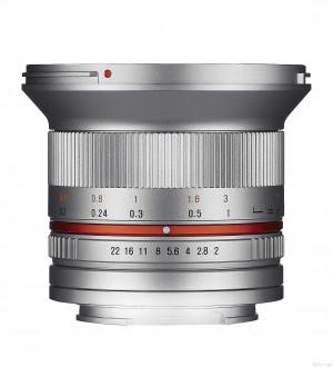 Samyang 12mm F2.0 NCS CS Silver M4/3