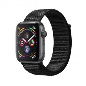 Apple Watch Series 4 GPS Alluminio grigio siderale cinturino Sport Loop nero 44mm
