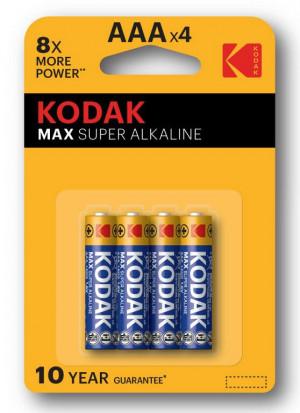 Batterie Mini Stilo KODAK Max Super Alkaline (AAA)