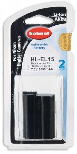 Hähnel - Batteria HL-EL15 7V, 1650mAh alta qualità