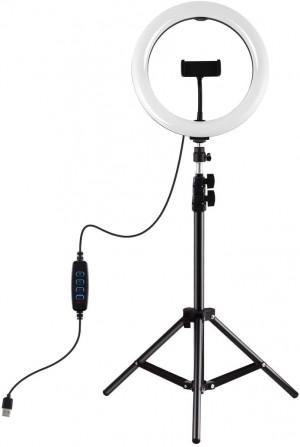 Neewer Luce Anello LED 48cm 55W 5500K Dimmerabile con Stativo e Bluetooth per Smartphone
