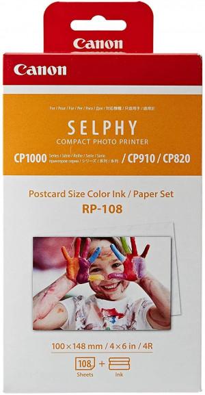 Carta fotografica e cartuccia d'inchiostro originali per Selphy CP, bianco, 20 x 12 x 8 cm